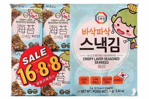 Crispy Snack Seaweed Laver 16/64g