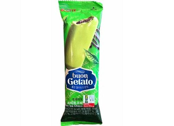 Green Tea Choco Ice Bar Buon Gelato 80ml