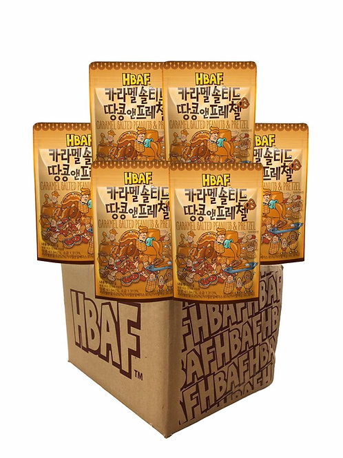 Caramel Salted Almond & Pretzel Box (25gX50 Packet)