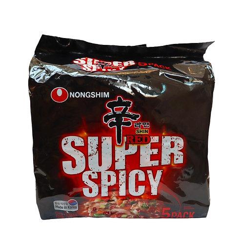 Shin Red Super Spicy Ramen (120gx5 Pieces)