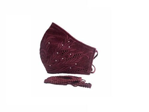 Lacely Copper-Ion Mask Ladies Maroon 2