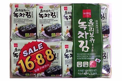 Seasoned Seaweed Laver with Green Tea 16/64g