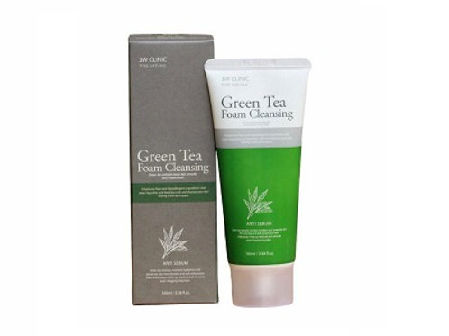Korean  3W Clinic Green Tea Foam Cleansing 100ml