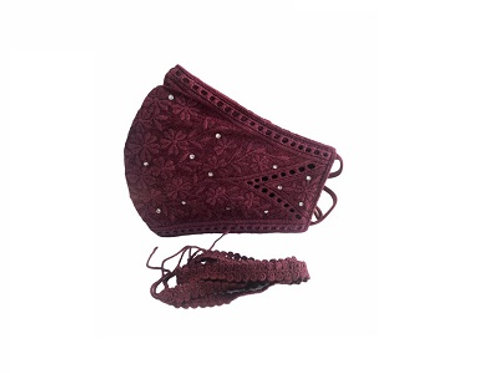Lacely Copper-Ion Mask Ladies Maroon 1