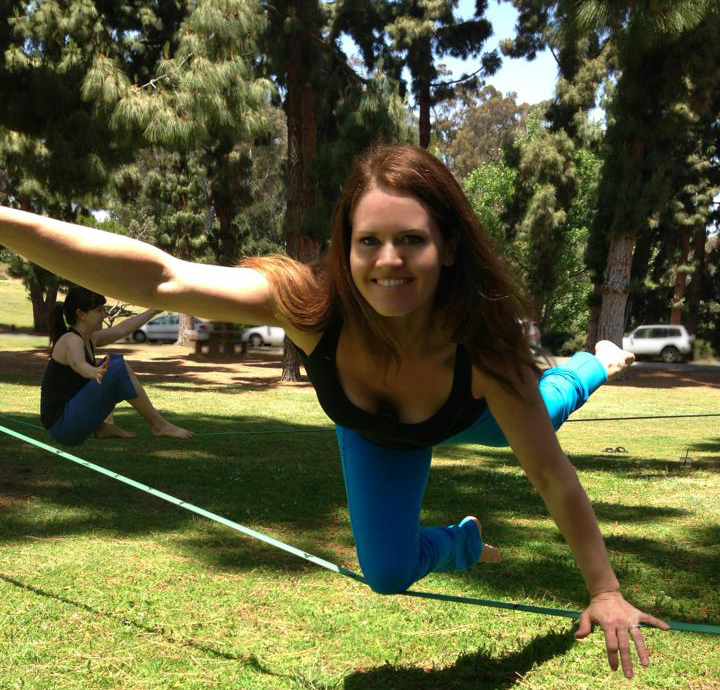 Slackline yoga!