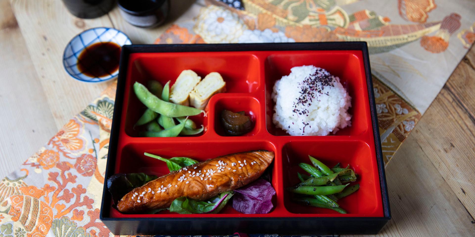 ARIGATO JAPANESE CUISINE - SALMON TERIYAKI BENTO BOX