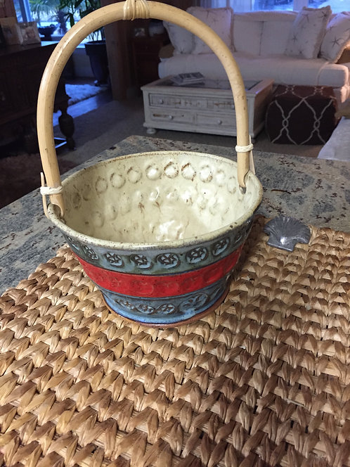 Functional Pottery Basket  sold