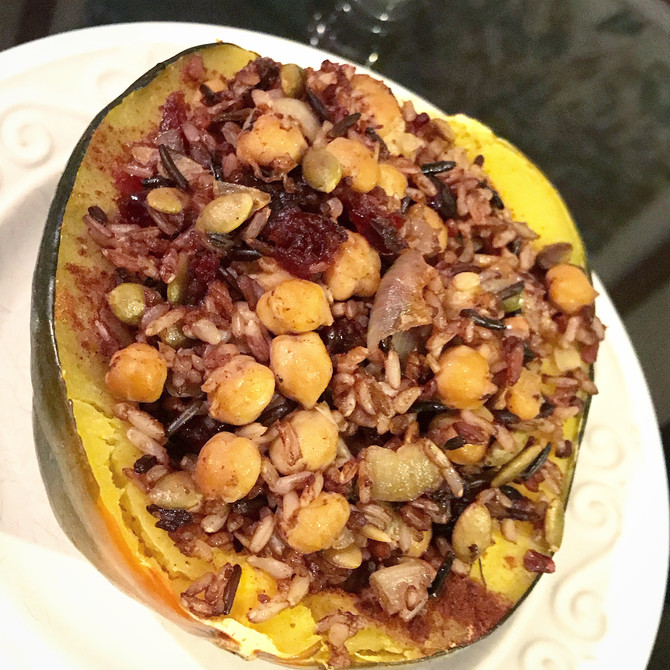 Instant Pot, Game Changer!        Pumpkin Spiced Acorn Squash