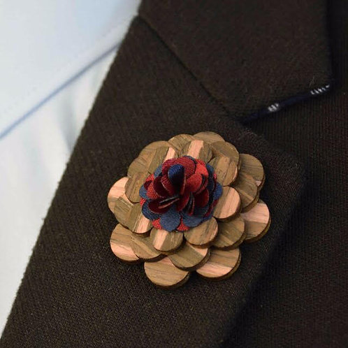 Hand crafted wooden Lapel Pin
