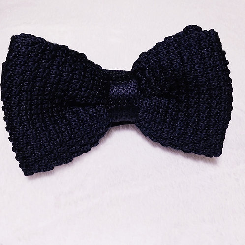 Black Wooven Bow Tie
