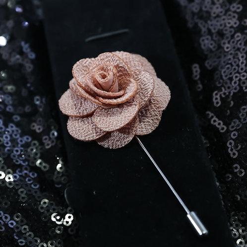 Dusty pink Premium Fabric Flower Lapel Pin