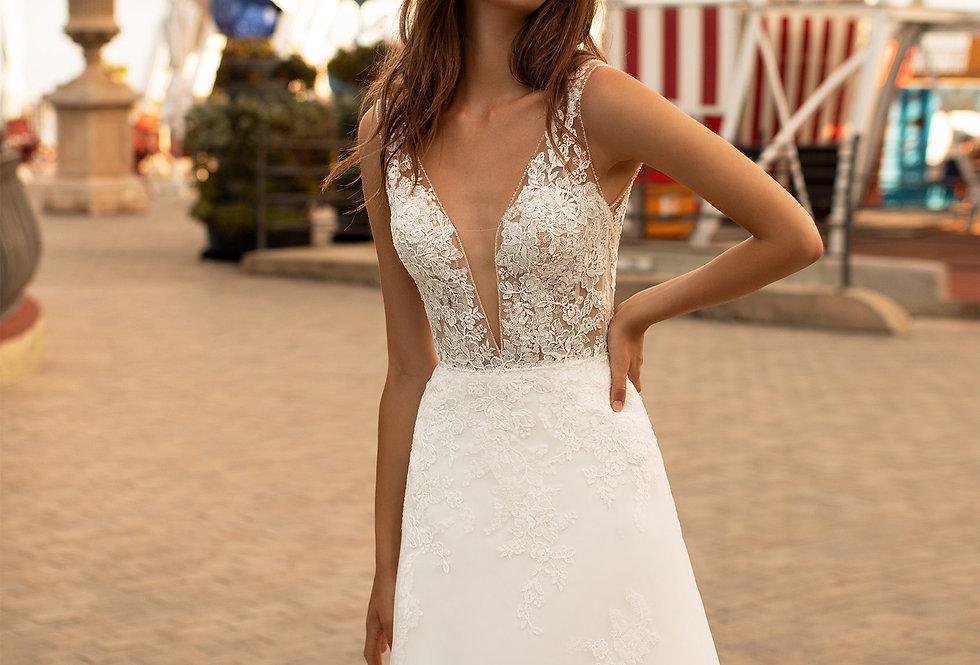 White One Selena Wedding Gown