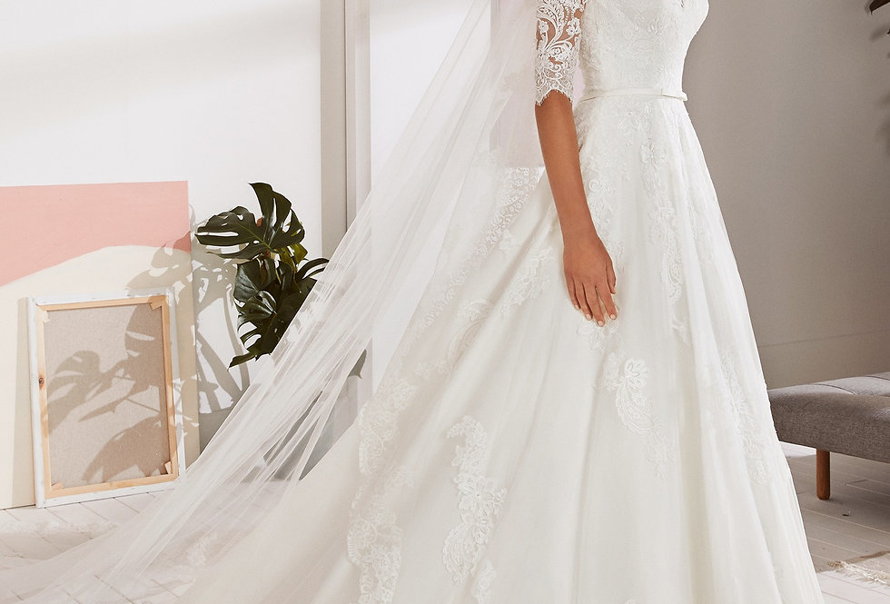 White One Ossa Wedding Dress
