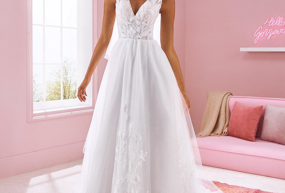 White One Karen Wedding Gown