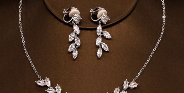 Bridal Necklace, and Earring Set