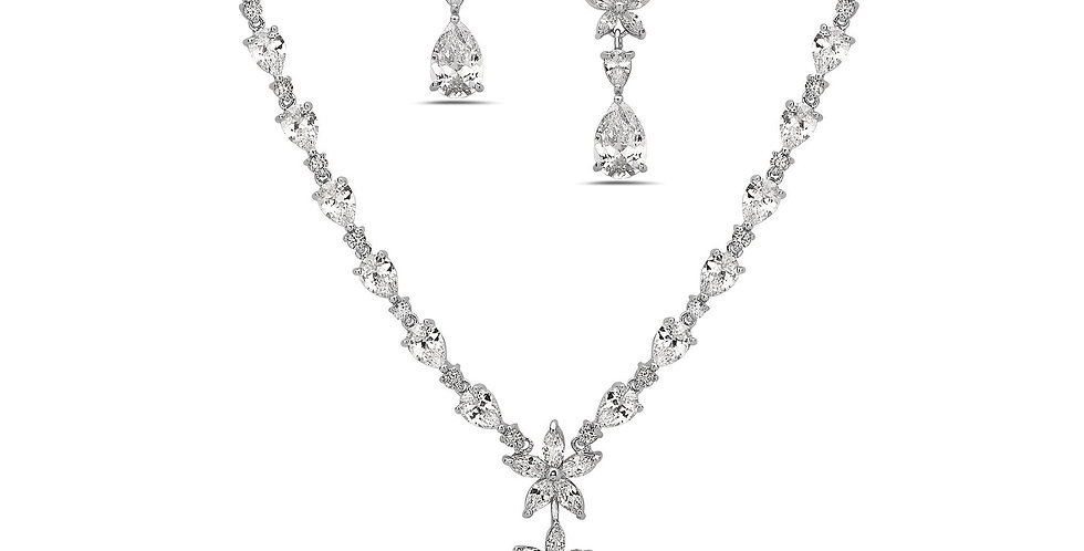 Aura Necklace & Drop Earring Set