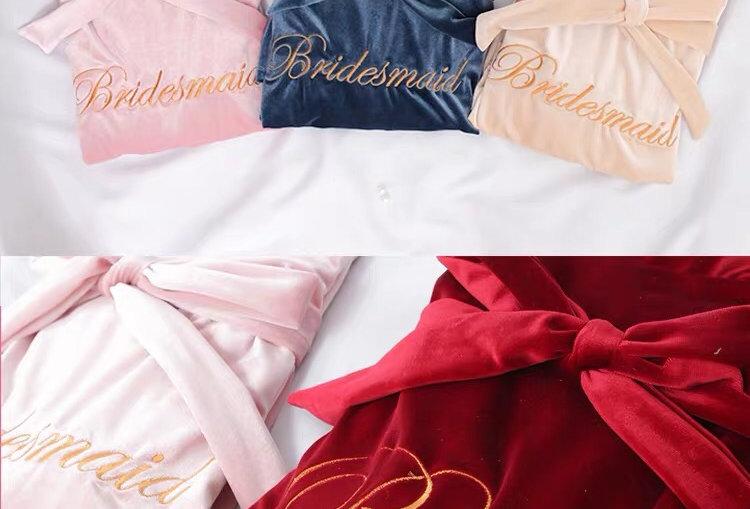 Custom Bridesmaid Embroidered Bath Robe