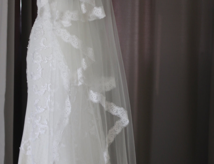 Scallop Lace Long Veil