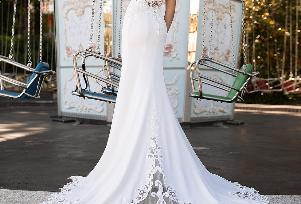 White One Lava Wedding Gown