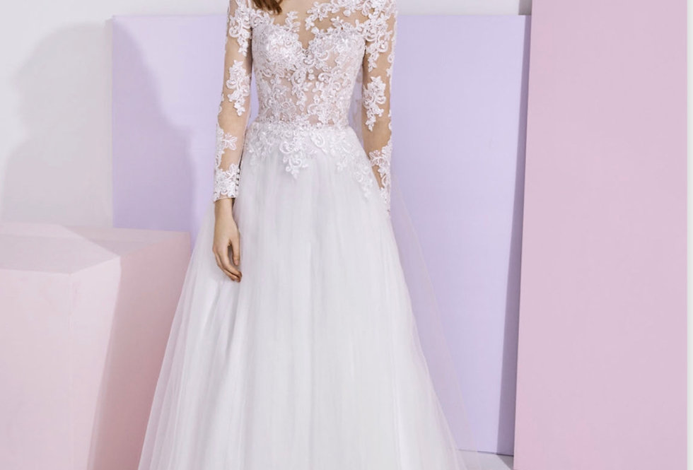 White One Shelley Wedding Gown