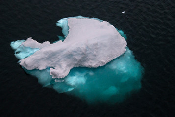 Floating Ice with Blue Shadow