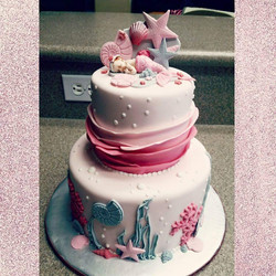 Pink and Grey Under the Sea Cake