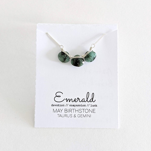 Darling Gems for You Emerald Necklace