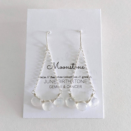 Darling Gems for You Moonstone Earrings