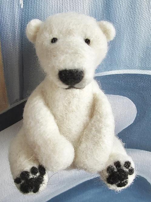 Hudson The Polar Bear Needle Felting Kit