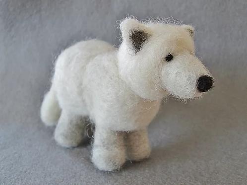 Arctic Fox Needle Felting Kit
