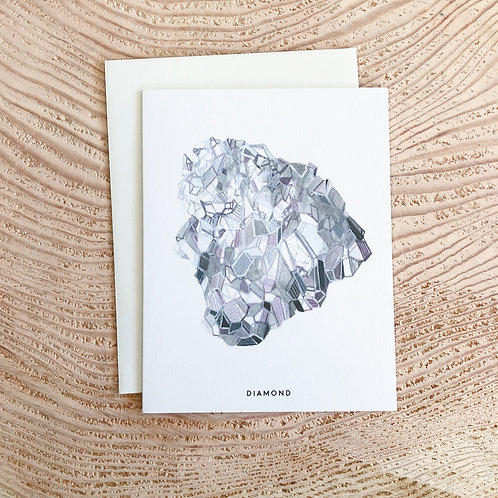 Diamond April Birthstone Card by Scout Paper