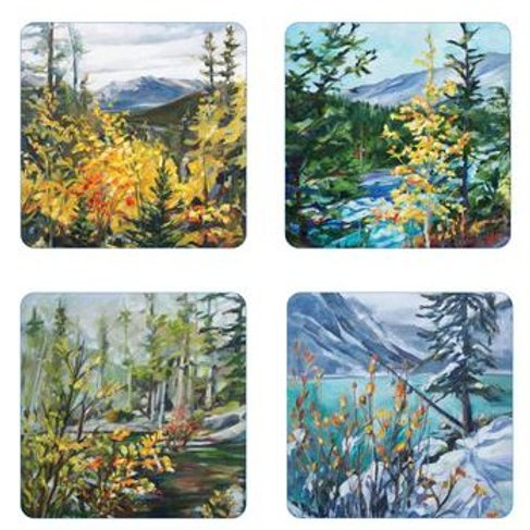 Alberta Landscape Coaster Set