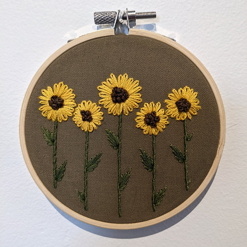 Yellow Flowers Embroidery
