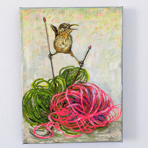 Marsh Wren Tells a Story by Judy Trafford