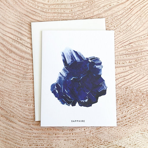 Sapphire September Birthday Card by Scout Paper
