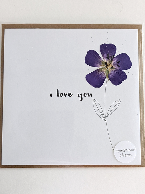 'i love you' Card
