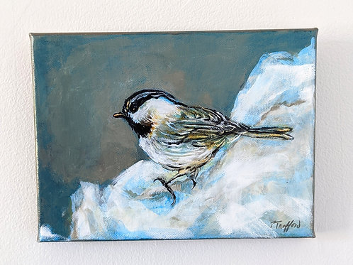 Just Chillin' Mountain Chickadee by Judy Trafford