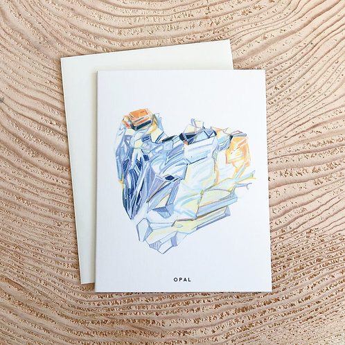 Opal October Birthstone Card by Scout Paper