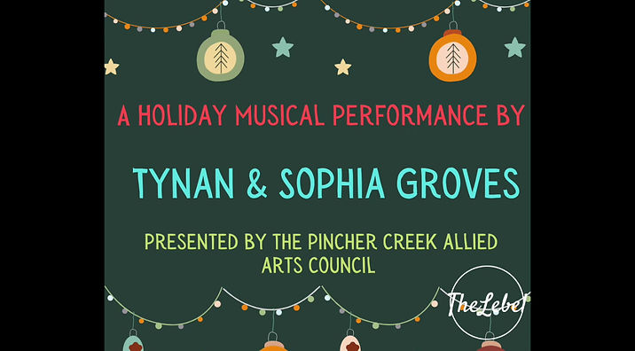 A Holiday Musical Performance by Tynan & Sophia Groves