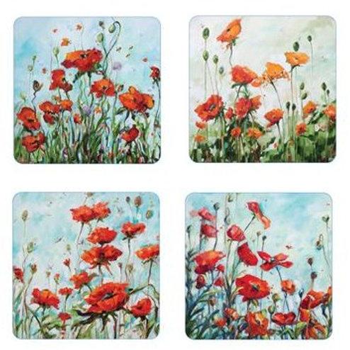 Poppy Coaster Set