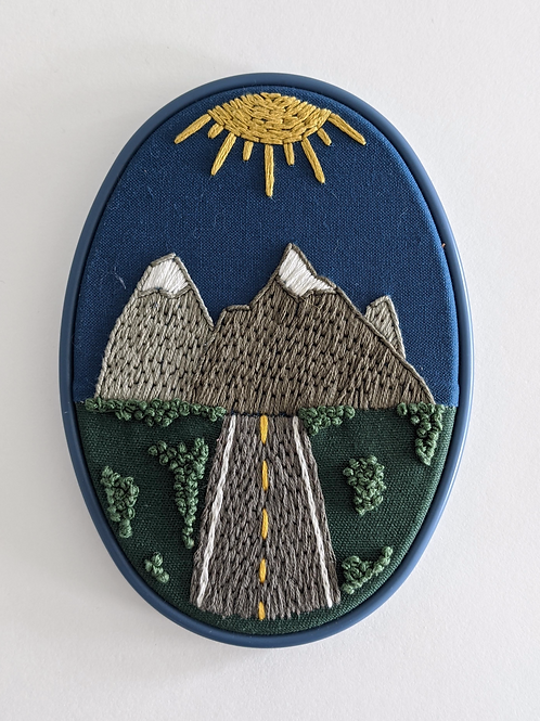 Mountain Road Embroidery