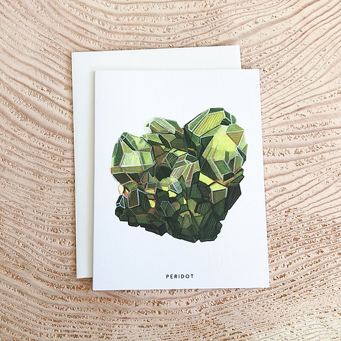 Peridot August Birthstone Card by Scout Paper