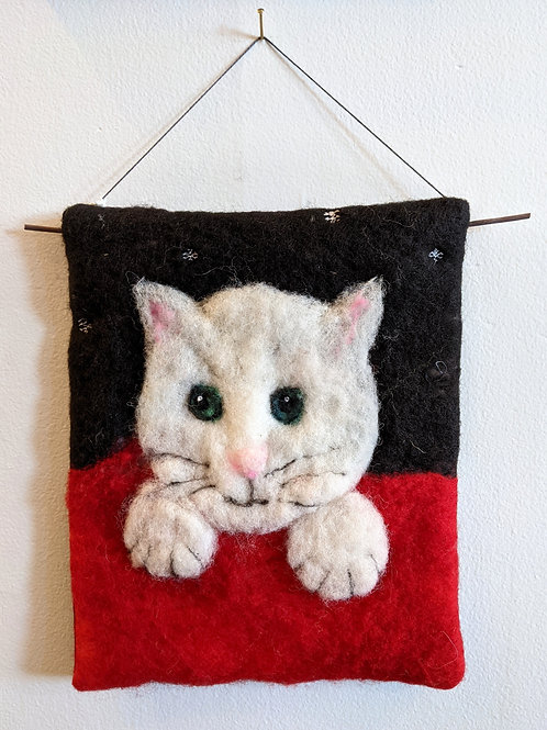 Felted Wall Hanging by Esther Neufeld
