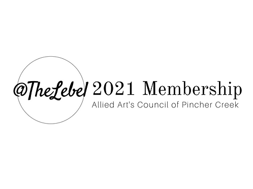 2021 Allied Arts Council of Pincher Creek Membership