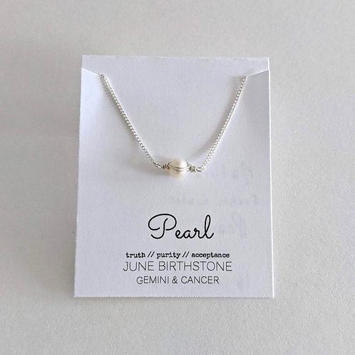 Darling Gems for You Pearl Necklace