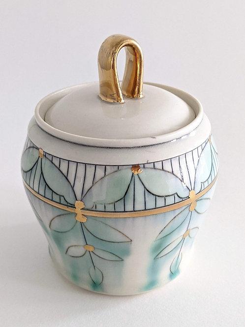 14k Gold Sugar Jar