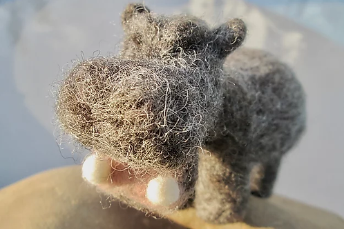 Happy Hippo Needle Felting Kit