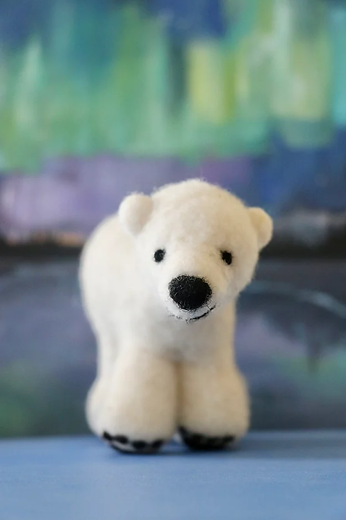 Aurora The Polar Bear Needle Felting Kit