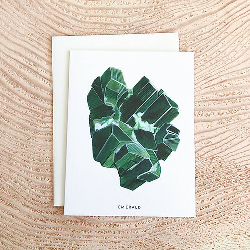 Emerald May Birthstone Card by Scout Paper