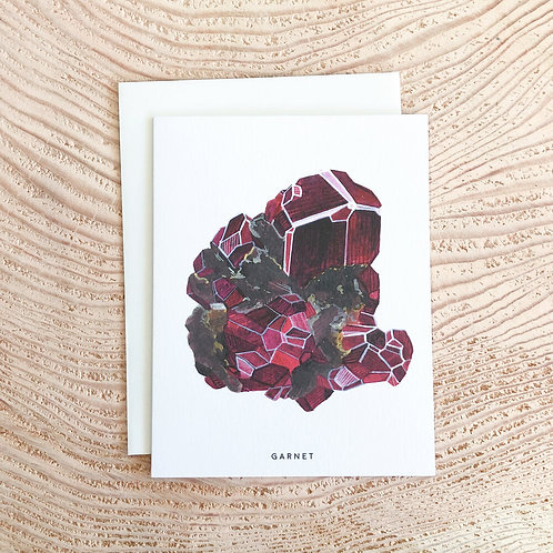 Garnet January Birthstone Card by Scout Paper